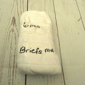 Men's white briefs